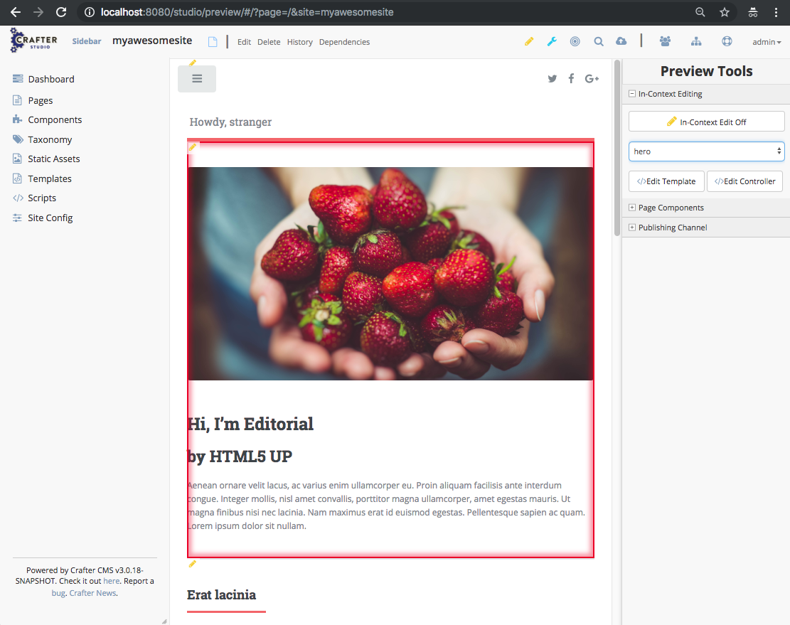 In-Context Editing — Crafter CMS 3.0.10 documentation