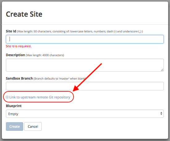 Site Creation with Remote Repositories — Crafter CMS 3 0 24