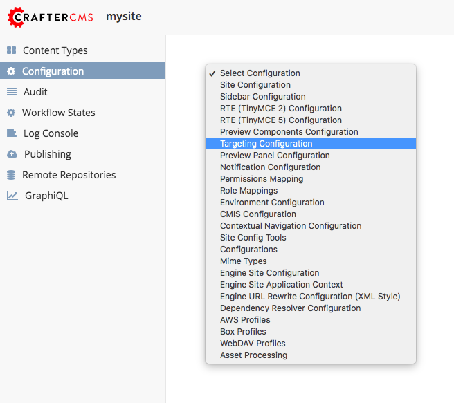Targeting - what is it Targeting types and settings